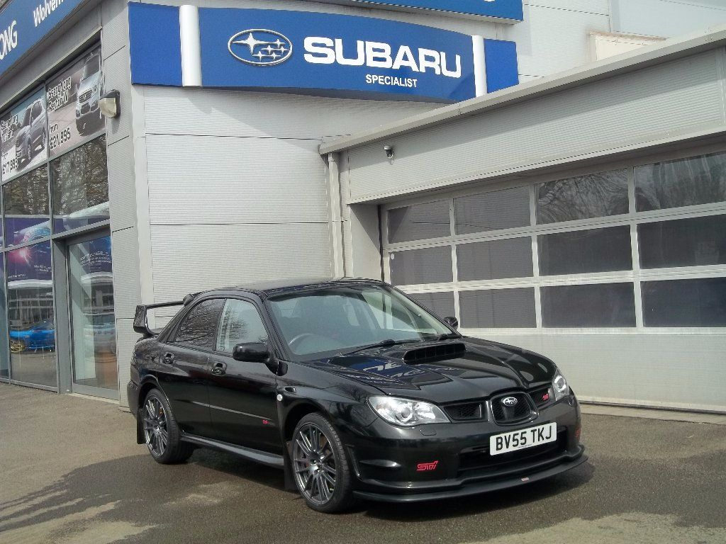 Subaru Impreza 2.5 WRX STi Type-UK Saloon Petrol Blue at Bunning Garages Wolverhampton