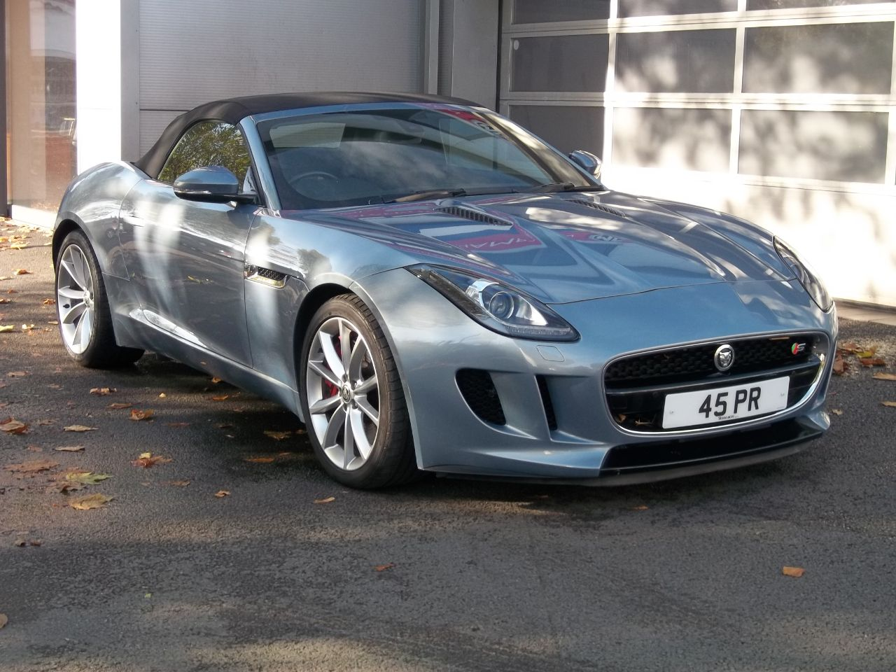 Jaguar F-type 3.0 Supercharged V6 S 2dr Auto Convertible Petrol Grey at Bunning Garages Wolverhampton