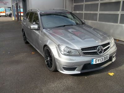 Mercedes-Benz C Class 6.2 C63 5dr Auto Estate Petrol SilverMercedes-Benz C Class 6.2 C63 5dr Auto Estate Petrol Silver at Bunning Garages Stafford